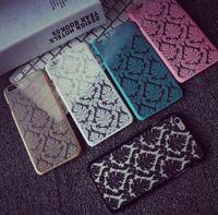 plastic flower - Luxury Vintage Flower Pattern Hard Plastic Phone Cover Case Skin For iPhone S Plus SE S Samsung S7 S6 Edge S5 Free Ship MOQ