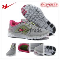 Wholesale Famous Trainers Free Run Sportswear Barefoot Womens Sports Running Shoes Wolf Grey Rave Pink