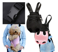 dog carriers - Pet Bag Dog Cat Carrier Five Holes Backpack Front Chest Backpack Pet Supplies H10525