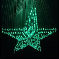 al por mayor piña cristal al por mayor-Al por mayor-0,75 mm Diámetro de la piña perlas de cristal de la lámpara de luz de fibra óptica de la fibra de cristal pentagrama con control remoto para la boda / KTV / bar