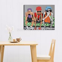 bad birthday gifts - Rebellious phase bad boys hand painted canvas picture funny oil painting wall paintings uniuqe cool birthday gift for friend