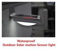 Wholesale New Waterproof IP65 Motion Sensor Detector Solar Powered Outdoor Lamp LED Solar Wall Light PIR Induction led solar light