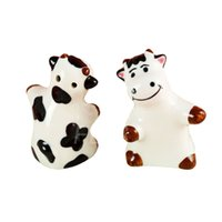 Wholesale cow Ceramic salt and pepper Shakers wedding favor kitchen supplies kitchenware Hotel Supplies GIfts Baby Shower