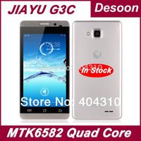 "150pcs in azione! Original Jiayu G3C G3 G3 cellulari 1GB di RAM 4GB ROM Android 4.2 MTK6582 4.5 ""di vetro gorilla lingua russa"
