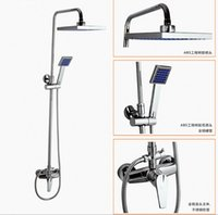 Wholesale all copper bathroom shower set hot and cold shower mixing valve faucet shower nozzle