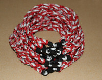 Bohemian baseball fundraiser - 2015 tornado necklace fundraiser Germanium Titanium Necklace ropes weaving necklace baseball football gym sports necklace