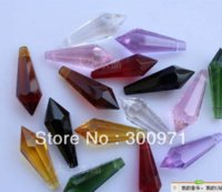 Wholesale mixed color x14mmmm crystal chandelier trimming crystal chandelier parts crystal drop Chandelier Crystal