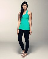 Wholesale Newest Lululemon Scoop Neck Tank Top Hot Women Yoga Vest Camis Tank Top Candy Active Yoga Exercise