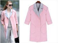 Wholesale Teenage girl simple elegant open stitch coat ladies plus size jacket sizes one color popular Europe American styles