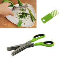 Wholesale Delicate Blade Stainless Steel Office Cut Shredding Scissors Sharp Herb Kitchen Tool Hot Selling