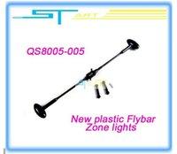Al por mayor-QS 105cm 42inch 8005 RC del recambio del helicóptero 8005-005 luces del área de Nueva Flybar plástico para QS8005 helicóptero + hot libre S