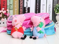 Wholesale 3pcs set Pink pig backpack plush toy school bags backpacks schoolbag Sister and brother pig plush