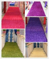 av table - HoT Selling Popular wedding carpet D Rose Petal Aisle Runner For Wedding Party Decorations Supplies Shooting Prop Colors Av