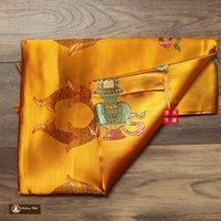 arts crafts textiles - F Textile Fabric Crafts Tibetan Buddhist Eight Auspicious Symbols of Buddhism Printed Hada Khatas cm cm Tibet embroidery Handicraft