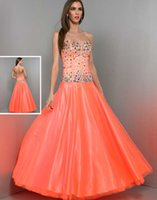 Cheap Reference Images Crystals Prom Dresses Best A-Line Sweetheart Backless Evening Dress