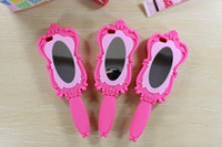 mirror - Hot Sale Magic Cosmetic Mirror Magic D Barbie Girl Beautiful Doll Pink Soft Silicone GEL Case for iPhone S S