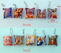 Wholesale Brand New Japanese cartoon character Hanging Decoration a set of five One Piece Naruto