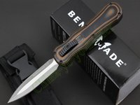 tool handle - Microtech Halo Double action OTF D2 tool steel blade spear point G10 Aluminum handle tactical knife knives with retail box
