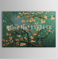almond tree blossom - 100 Hand painted Impressionist Oil Painting Branches of an Almond Tree in Blossom Landscape Masterpiece Repro Vincent Van Gogh