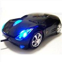 Wholesale D car shape design mini car USB wired optical mouse for laptop desktop PC