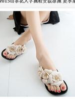Wholesale 2015 camellia Flip Flops sandals Summer girl camellia jelly slippers for size
