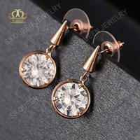 bezel set diamond earrings - Simple and stylish k real gold plated bezel setting AAA CZ diamond earring