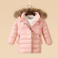 baby girl topcoat - LaLa Children s Natural white duck down warm jacket baby boys and girls Autumn and winter coat girl jacket winter topcoat