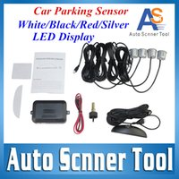 best parking sensor system - car dvr Best Price Smart Car Parking Sensor System LED Reverse Backup Radar System With Sensors Double CPU Wire Fast Shipping