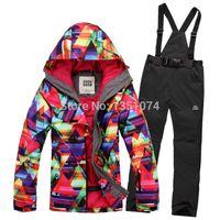 Wholesale New winter female skiing jackets Gsou woman ski coat snowboard ski suit women snow wear jacket