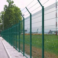 barbed wire - Security Wire Mesh Fence With Barbed Wire For Reinforcement