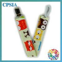 Wholesale 150pcs Hot sale cm waves baby pacifier clip holder baby feeding cotton pacifier clips in stock