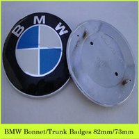 bmw logo - ABS Plastic BMW Logo Car Badges Decorate BMW Bonnet Trunk Car Stickers Rear Front Car Logo Emblem mm mm Sale