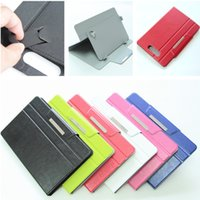Wholesale 7 inch inch ultra thin Universal Leather Case Cover for Tablet PC MID PDA Epad For Samsung Galaxy Note TAB ipad mini Honor x1 with stand
