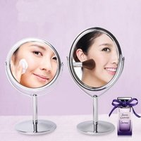 Wholesale New make up mirror lovely girl lady women s beauty bilateral normal magnifying glass DHL