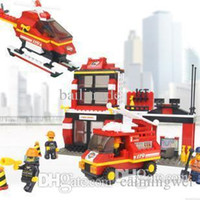Wholesale Freeshipping SLuban Building Block Fire Police D Jigsaw Puzzle Education assembling toys for kids