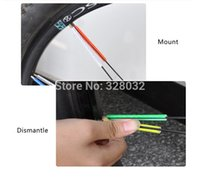 Wholesale MTB Mountain Bicycle Bike Cycling Colorful warning reflective wheel spoke ring Ourdoor sport equipment DHL