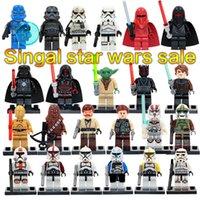 Wholesale SALE hot Star wars Yoda Stormtrooper Darth Vader C3P0 Chewbacca Building Blocks Model Bricks Toys without box