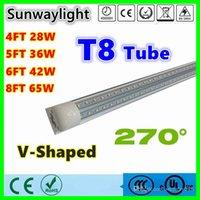 led tube - V Shaped ft ft ft ft Cooler Door Led Tubes T8 Integrated Led Tubes Double Sides SMD2835 Led Fluorescent Lights AC V UL DLC