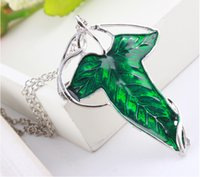 gothic jewelry - Fashion Jewelry Gothic The Lord of The Rings Elf Leaf Brooch Necklace With Chain