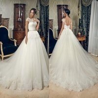 Cheap 2015 Vestido de novia Long Wedding Dresses Arabic Vintage Sexy Short Sleeves Crystals Lace Bridal Gowns 2015 Cheap With Lace Up Backless