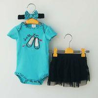 baby girl leopard dress - Children Clothes Kids Clothing Girl Dress Summer Tutu Skirt Leopard Baby Rompers Girls Headbands Children Set Kids Suit Outfits C3300