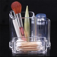 acrylic candy display cases - Promotion Makeup Box Brush Clear Acrylic Holder Organizer Cosmetic Jewelry Lipstick Display Storage Case