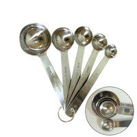 Wholesale New Arrive Premium Stainless Steel Measuring Spoons Piece Metal Spoon Set With ruling Hot sale