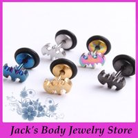 Wholesale New Style Stainless Steel Bat Tragus Cartilage helix Piercing Stud Earring Barbell Body Jewelry