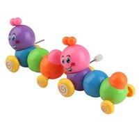 Wholesale 2015 Hot sale Cute Wind up Carpenterworm Cutworm Clockwork Spring Bug Children Toy