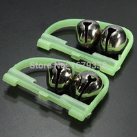 Wholesale Lowest Price Fluorescent Fishing Rod Tip Clip Twin Bell Alarm Alert Ring Glow In The Dark Plastic Alloy