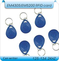 Wholesale RFID EM4305 T5557 KHZ frequency access card can write code chips EM4305