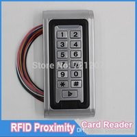 Wholesale RFID EM Card Reader IP68 Waterproof metal standalone Door Lock access control system with keypad Support card users A5