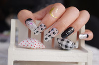 acrylic nail art pictures - Y5030 Design Acrylic Nail Art Sticker Cute Cat Picture Decals Minx Harajuku Manicure Decor Tools Nail Wraps Sticker New