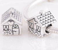 Wholesale Sterling Silver Sweet Home House Threaded Charm For Pandora Bracelet